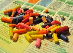 break up crayons