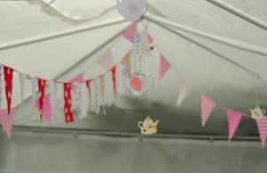 bunting and teapots