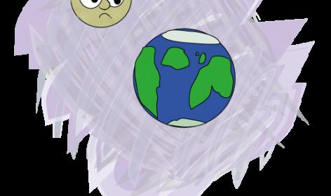 earth crash into the moon
