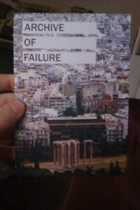 archive of failure front cover